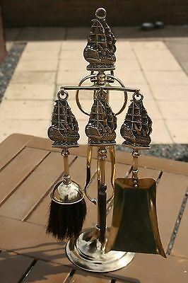 Art Deco Brass Companion Set - Hms Victory