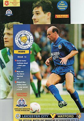 Leicester City 2 x Home Programmes from 1993/1994