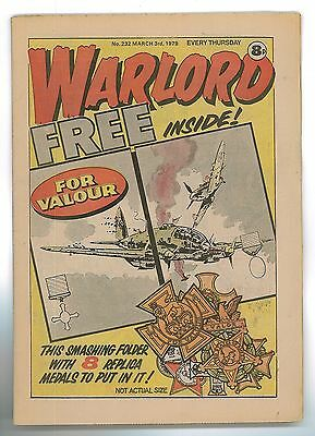 Warlord Comic #232 1979 With Free Gift