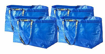 """4 Pack of IKEA FRAKTA Large Shopping Tote Bag Grocery Laundry 21""""x14""""13 Reusable"""