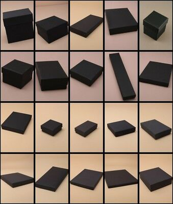 Black Jewellery Gift Boxes Bag Necklace Bracelet Ring Small Wholesale Bulk 12pk