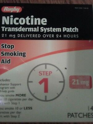 Lot of 8 boxes - Rugby nicotine patches 21 mg (14ct)