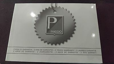 Piaggio - Vespa - Gilera 2 Year Warranty Maintenance Service Record Book