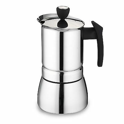 Cafe Ole 9/6-Cup Italian Style Stainless Steel Espresso Coffee Maker 360/ 240 ml