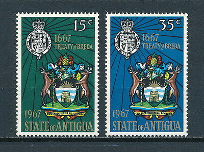 Antigua 193-4 MNH, Treaty of Breda, 1967