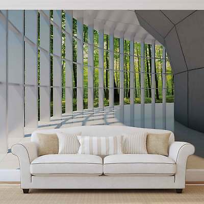 WALL MURAL PHOTO WALLPAPER XXL View Modern Hall Forest Trees Nature (10057WS)