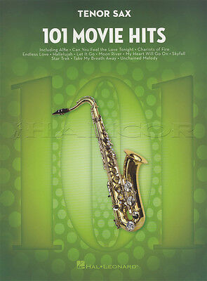 101 Movie Hits for Tenor Saxophone Sheet Music Book Skyfall Mission Impossible