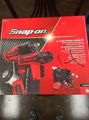 New Snap On 14.4V Microlithium Cordless Kit Impact Screwdriver Led Ct761 Cts761