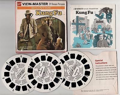 KUNG FU VIEW  MASTER 21 Stereo Pictures GAF David Carradine 1974 VINTAGE RARE