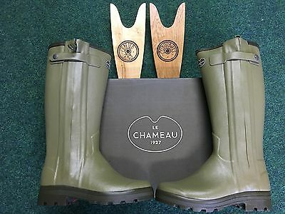 Le Chameau Chasseur Leather Lined Wellingtons With Zip Free Boot jack