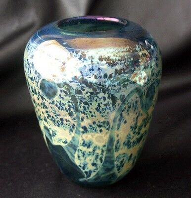 Vintage DON BAGWELL Studio Iridescent Glass Vase 77