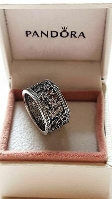 Pandora Forget Me Not Sterling Silver Ring. S925 ALE with BOX