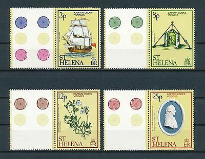 St. Helena 324-7 MNH , Voyages of Captain Cook, 1979