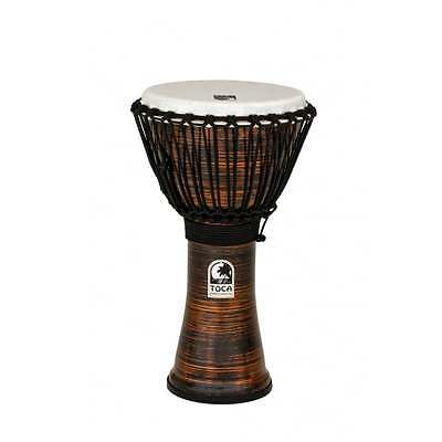 "Toca Freestyle II Rope Tuned 10"" Djembe - Spun Copper Finish"