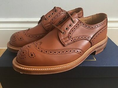 Tricker's Derby Brogue Womens L5679 UK 5 4 Made in England Brand New Brown