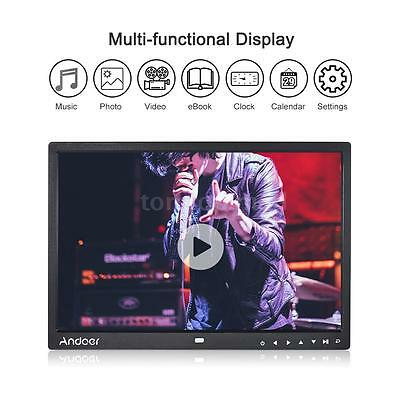 """15"""" HD Digital Photo Frame Picture 1080P MP4 Movie Player + Remote Control Y9F0"""