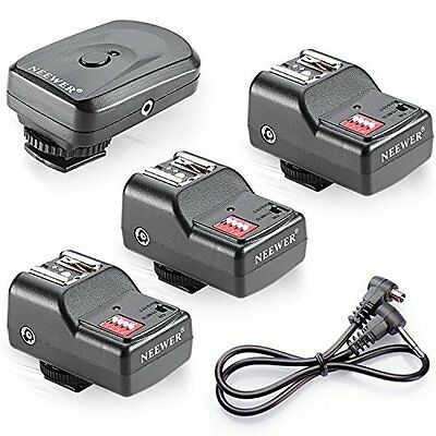 16 Channel Wireless Flash Trigger Set 1 Transmitter 3 Receivers Sync Wire Camera