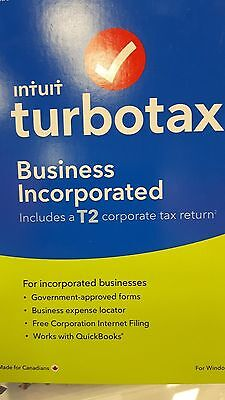 TurboTax Business Incorporated 2016, English