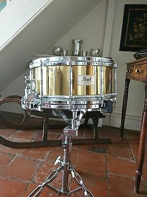 Vintage Pearl Snare drum. Brass Shell.