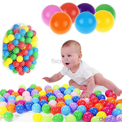 50pc Baby Kids Plastic Colorful Play Balls For Ball Pit Ocean Swim Pool Toy fo12