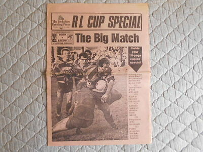 Yorkshire Evening Post (York) Rugby League Cup Special Newspaper 24/01/1989
