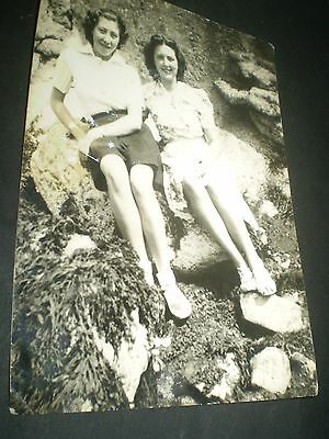 social history 1940's seaside fashion leggy girls glamour  photograph 6x4