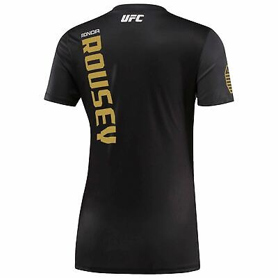 New Women's REEBOK UFC Official Fighter Jersey Shirt - Ronda Rousey AI4124 207