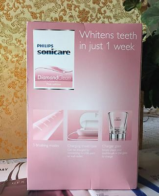 New SONICARE DIAMOND CLEAN PINK EDITION  RECHARGEABLE TOOTHBRUSH