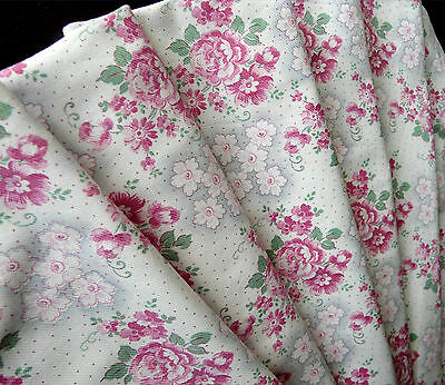 Vintage French brushed cotton excellent cond from 1930-1940, large piece