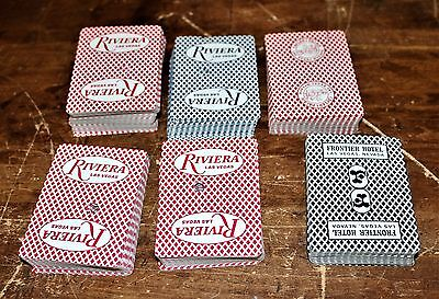 Riviera - CAESARS - Frontier Vegas CASINO lot PLAYING CARDS 2 sets - Crafts