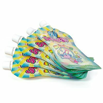 Pack of 10 Fill N Squeeze Refill Pouch 150ml Re-Sealable Curve Shape Feeding Set