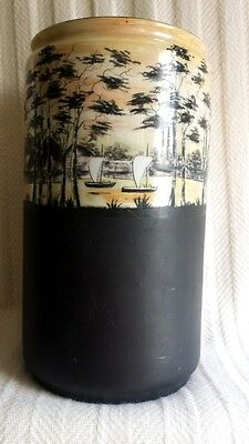 Vintage 1915 Handpainted Arts and Crafts Ceramic Vase, Signed – Japonisme