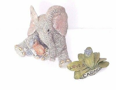 Tuskers elephant 'LOVE IS CARING' ornament complete
