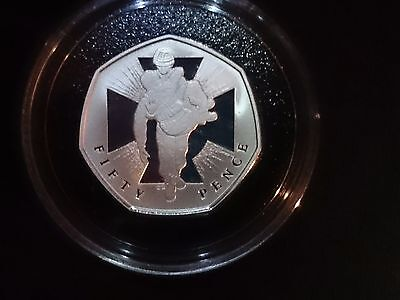 2009 Uk Victoria Cross Afghanistan 50 Pence Silver Proof Coin