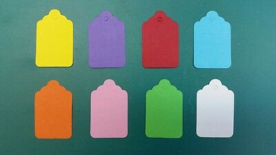 Coloured UnStrung String Kraft Tags Swing Price Tickets Jewellery Labels