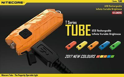 Nitecore Tube, 45 Variable Lumen Keyring torch in various colours