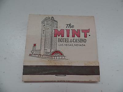 The MINT Hotel & Casino Las Vegas Nevada Matchbook Universal Matches Vtg B