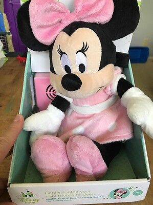 MINNIE MOUSE Disney Baby Dreamy Sounds Soother Cloud B Plush Musical Sound Toy