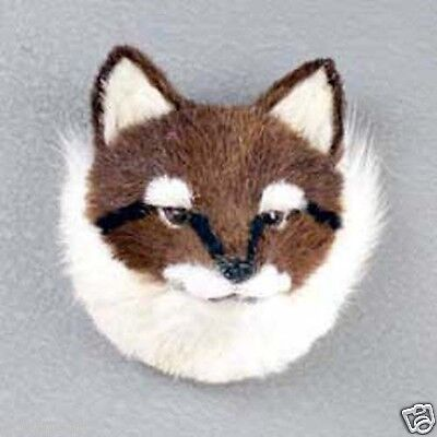(1) Red Fox Animal Furlike Magnet. Mostly Hand Crafted. Perfect Holiday Gift!