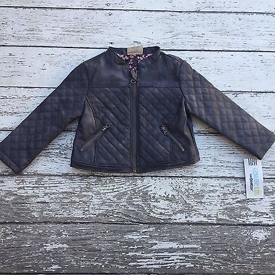 NWT Genuine Kids Osh Kosh Gray Moto Jacket Baby Girl 18 Months