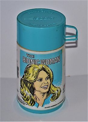 VTG 1976 Bionic Woman Aladdin Thermo Bottle Not Thermos w/ Cup