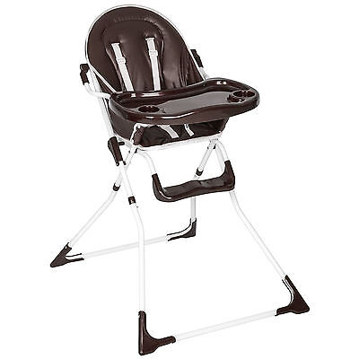 Foldable Baby Child Toddler Infant High Chair Feeding Seat New Brown