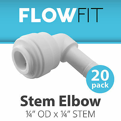 "Express Water 20-Pack Stem Elbow 1/4"" Inch Quick Connect QC RO System Fittings"