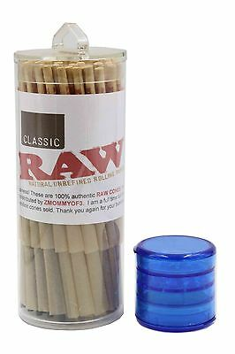 RAW Classic Lean Size Pre-Rolled Cones (50 Pack) W FREE GRINDER