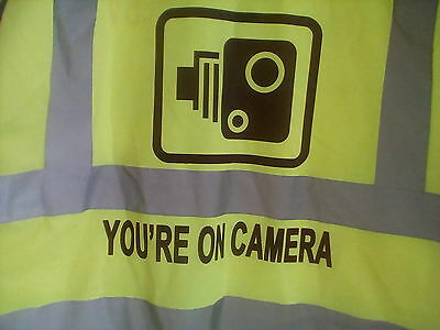 You're On Camera Hi-Viz Vest Size XL Zip Front & Pockets
