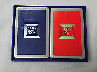 MINT NICKEL PLATE ROAD RAILROAD Double Deck Playing Cards -Bollhagen NKP-2c&f