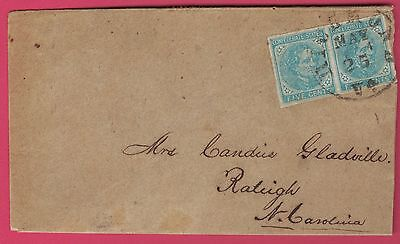Confederate CSA #6 Pair On Cover To Raleigh NC - Richmond Cancel