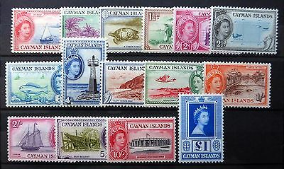 CAYMAN ISLANDS 1953 to £1 SG148/161a Mounted Mint NB1351