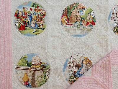 Alice in Wonderland Quilt, Alice in Wonderland Baby Blanket, Baby Quilt