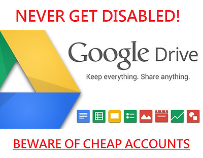 Unlimited Google Drive Storage LIFETIME (NEVER GET DISABLED)
